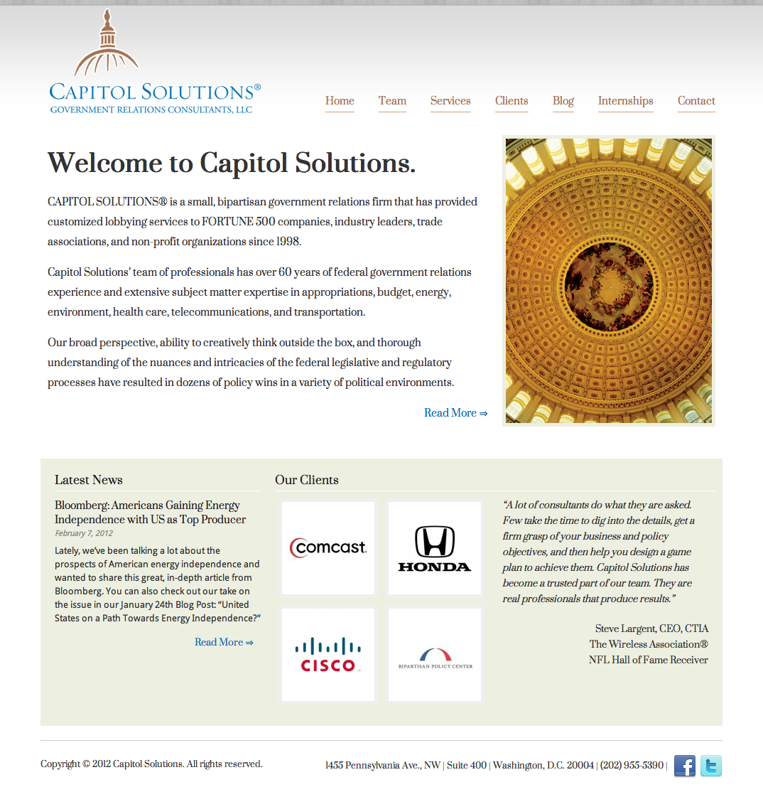 Capitol Solutions – Bipartisan Government Relations Firm
