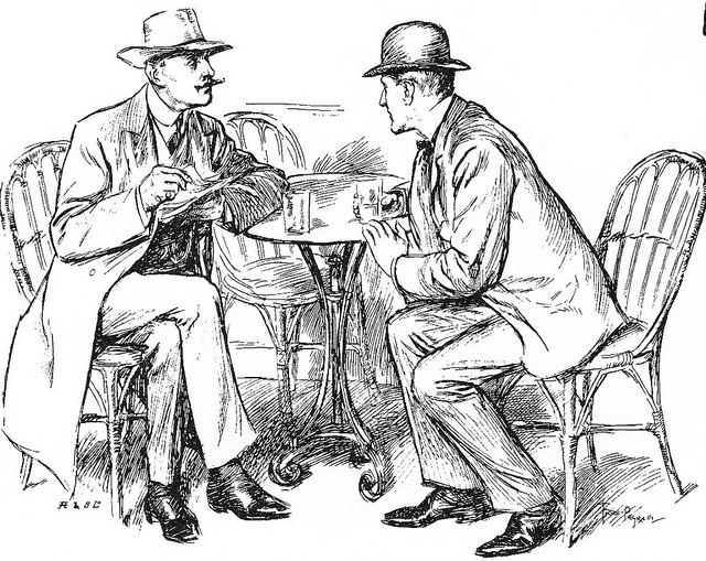 Men talking