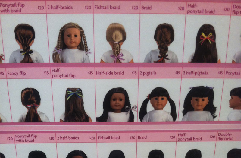 Doll hairstyles