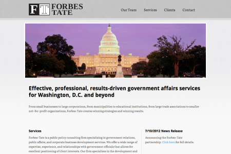 Forbes-Tate — Results-Driven Lobbying for Washington D.C.